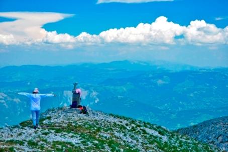 na vrhu Vasojevickog Koma