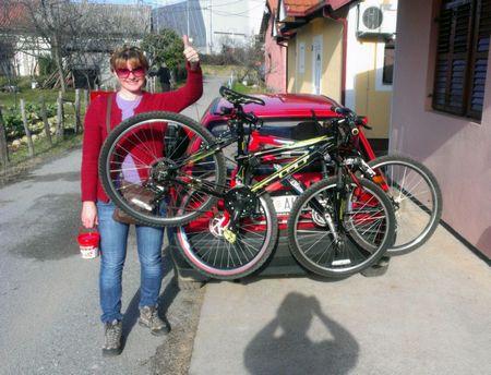 Bicikla na zadnjem dijelu kola