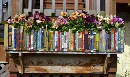 Book and Flowers on Whidbey