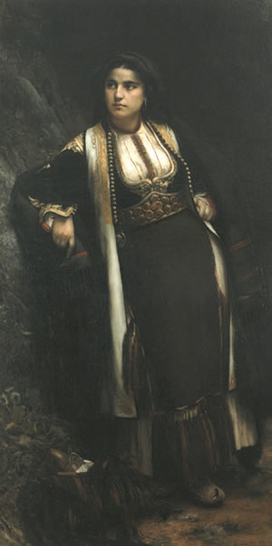Vlaho-Bukovac-Crnogorka-na-sastanku-1883.